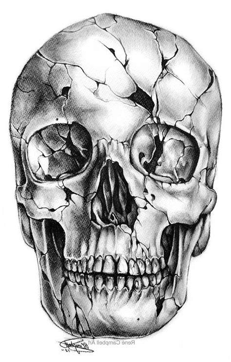 realistic skull tattoo designs  ideas  skull drawings  pinterest sugar skull