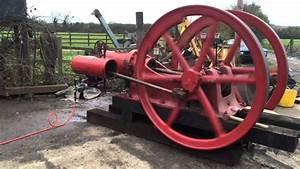 Reid 25hp Gas Stationary Engine  First Run In Uk