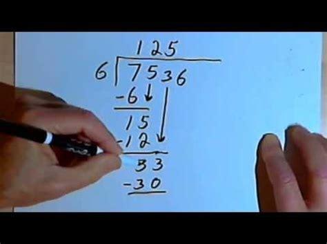 long division dividing    digit number