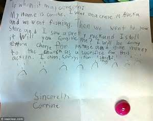 Girls write adorable apology note to mum | Daily Mail Online
