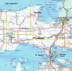 When Did The Edmund Fitzgerald Sank by Map Showing Paradise Michigan In The Upper Peninsula