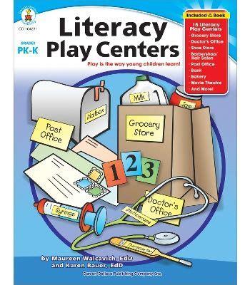 cdwish list literacy play centers resource book carson 341 | 37a32b8958347358f573a3c66273b057