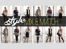 Fall Mix & Match Styles Dress It Yourself ANN LE YouTube