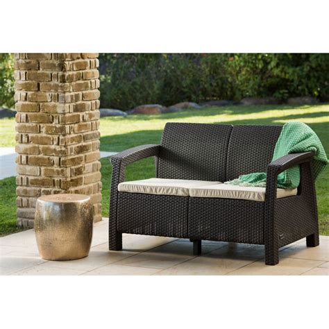 loveseat cushions for outdoor furniture brown outdoor wicker rattan loveseat sofa bench cushion