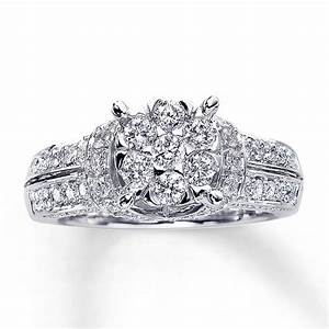 kayoutlet diamond engagement ring 1 3 8 ct tw round cut With 3 ct wedding rings