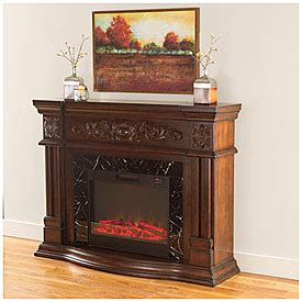 fireplaces at big lots view 62 quot grand cherry scroll electric fireplace deals at