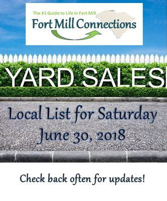 local yard sales saturday june  fort mill area