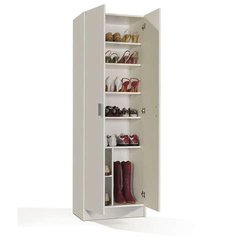 hauteur meubles haut cuisine multiusos armoire à chaussures blanc achat vente meuble à chaussures multiusos armoire 2p