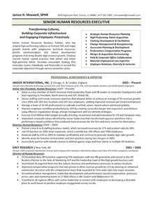 Hr Executive Experience Resume by The Top 4 Executive Resume Exles Written By A