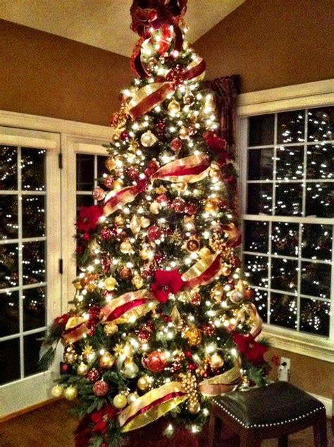 decoracion navidad rojo  dorado