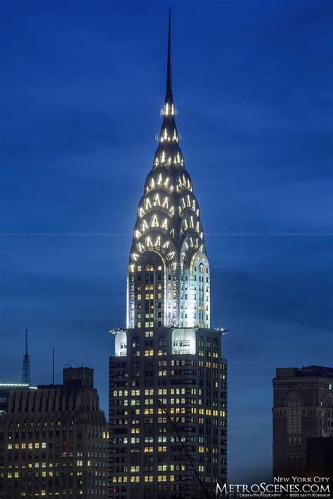 Chrysler Building Spire At Night Design Art Deco