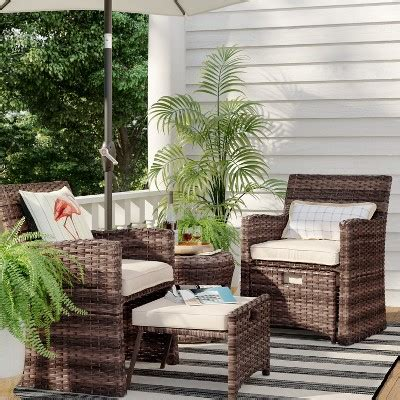 Target Patio Furnature by All Weather Wicker Patio Furniture Target