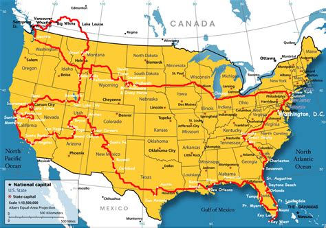boundary map   usa  canada whatsanswer