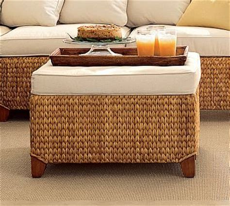 seagrass ottoman storage seagrass sectional ottoman honey traditional