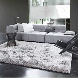 Tapis sur mesure gris uni shaggy adore par ligne pure for Tapis shaggy avec canapé et fauteuil design