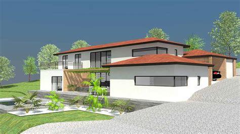 maison moderne sur terrain en pente plan maison contemporaine sur terrain en pente