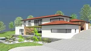 maison darchitecte contemporaine a toit terrasse a toulouse With amenagement exterieur maison terrain en pente 7 construction maison bois pyrenees bois maisons