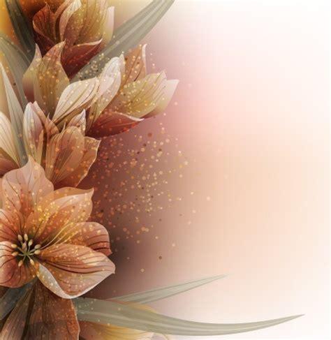 elegant card background  sparkling flowers