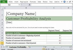 how to easily perform a customer profitability analysis in With client analysis template