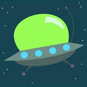 Items similar to Cute Alien Space Ship - 8x8 - Choose your ...
