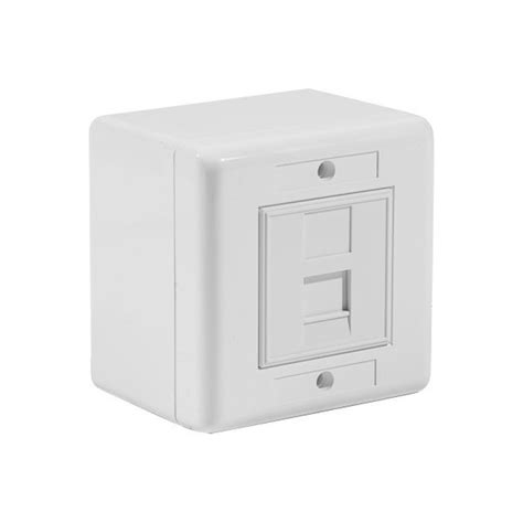 prise murale cat6 a 10gbit en saillie 45x45 1 port rj45 s ftp