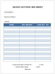 silent auction bid sheet printable