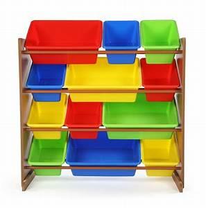 Humble, Crew, Highlight, Collection, Kids, Toy, Storage, Organizer, With, 12, Plastic, Bins, Dark, Pine
