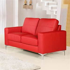 small red leather sofas for vibrant small living area in With sectional sofas for small areas