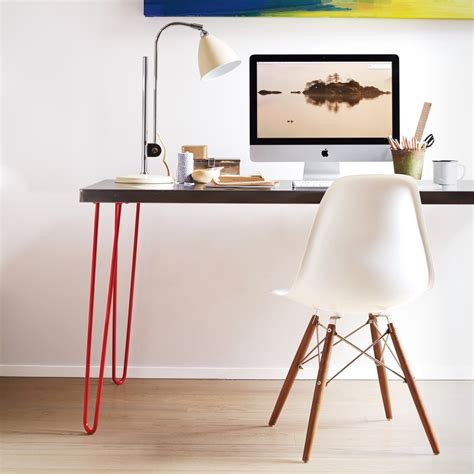 hairpin desk legs hairpin leg desk made with ikea butcher block surface