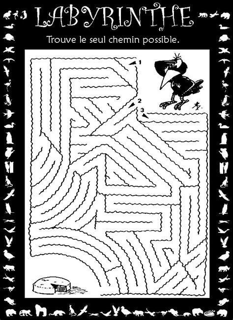 jeu labyrinthe labyrinthes en ligne ou  imprimer pour