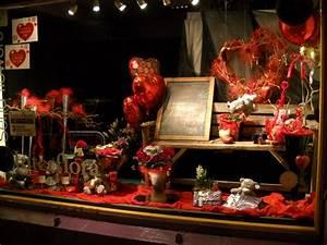 Vitrine Saint Valentin : vitrine saint valentin photo de cr ation de fab flowers romain deux fleuristes cork ~ Louise-bijoux.com Idées de Décoration