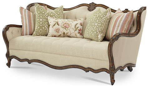 Furniture Trim by Lavelle Melange Wood Trim Tufted Sofa From Aico 54815