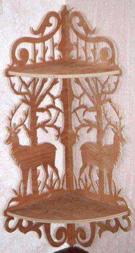 deer corner bracket scroll  fretwork pattern scroll