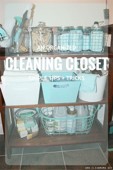 Cleaning Closet  Organization 101  Clean Mama