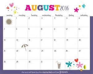 August 2016 Free Printable Calendars Com