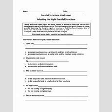 Englishlinxcom  Parallel Structure Worksheets