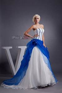 white and royal blue wedding dress Naf Dresses