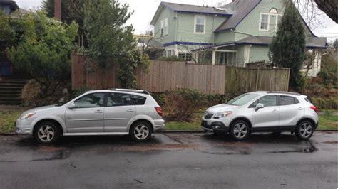 Buick Encore Size Comparison image 2014 buick encore with pontiac vibe size 1024 x