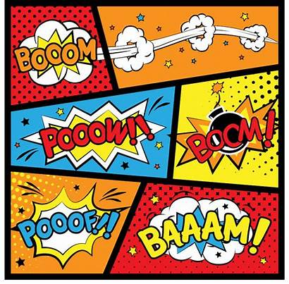 Superhero Comic Printables Labels Pop Birthday Background