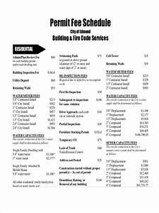 Free 7  Fee Schedule Examples  U0026 Samples In Pdf