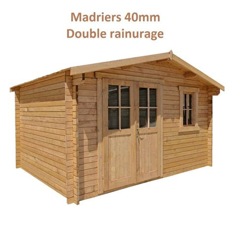 abri de jardin 12m 178 plus en bois 40mm trait 233 teint 233 marron gardy shelter