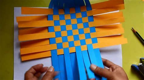 diy paper weaving basket  paper craft youtube