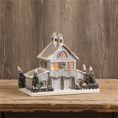 christmas barn cardboard barn glitter village
