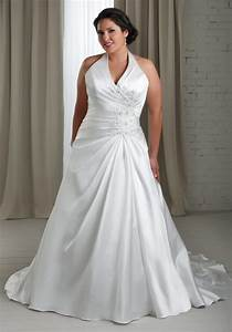 cheap plus size white wedding dress with a line silhouette With cheap plus size wedding dress