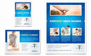 Reflexology massage flyer ad template design for Free print ad templates