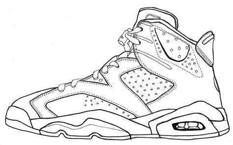 jordan shoes coloring pages csad   sneakers drawing