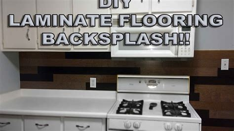 LAMINATE FLOORING BACKSPLASH!!   YouTube