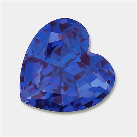 3x3mm gem quality heart shaped genuine chatham created lab grown blue sapphire