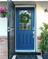 paint front door How To Paint A Front Door {Without Removing It} - Classy ...