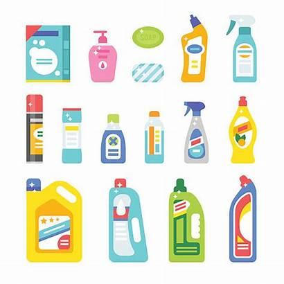 Cleaning Hygiene Vector Icons Illustration Symbols Plastic